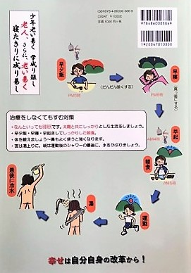 ブログ「モノオス」長岡京市のアサワ医院の浅輪先生が執筆した本の裏表紙を撮った画像
