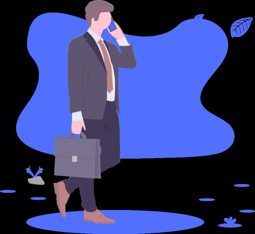 ブログ「モノオス」サラリーマンが歩いているところを描いた画像