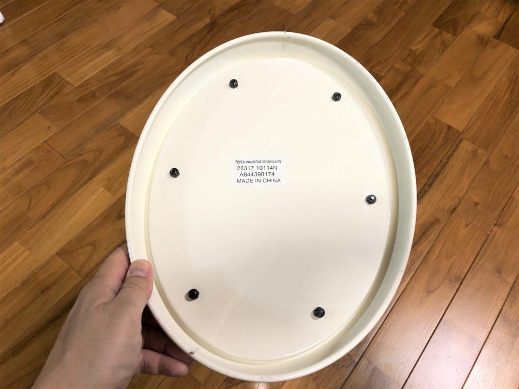 ブログ「モノオス」おむつ用ごみ箱のubbiの裏面を撮った画像