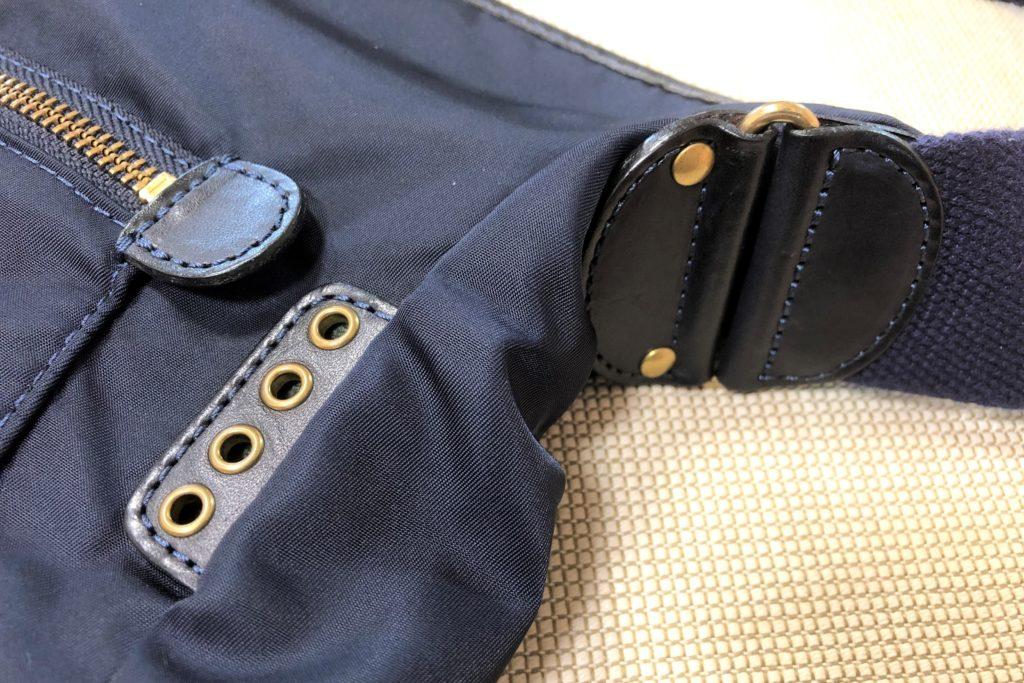 ブログ「モノオス」フェリージショルダーバッグ9362/DSのベルトの装飾を撮った画像