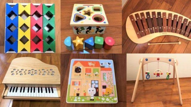ブログ「モノオス」子供受けの良かった木のおもちゃのまとめ記事のヘッダー画像