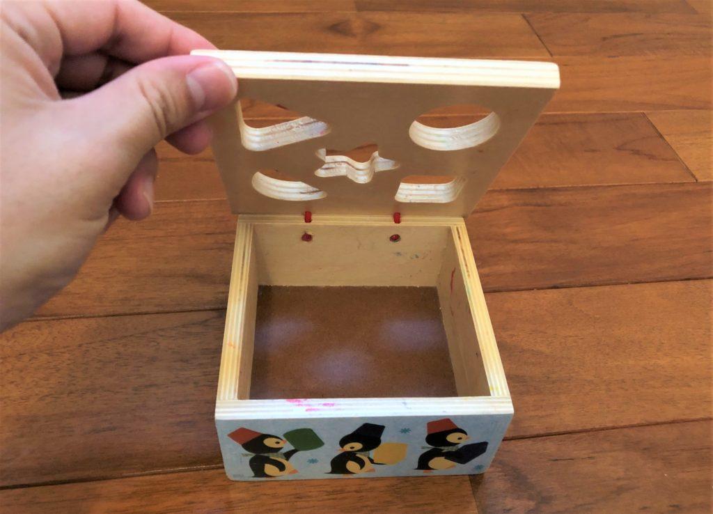 ブログ「モノオス」ジェコ社のジオピンキーのふたを開けたところを撮った画像
