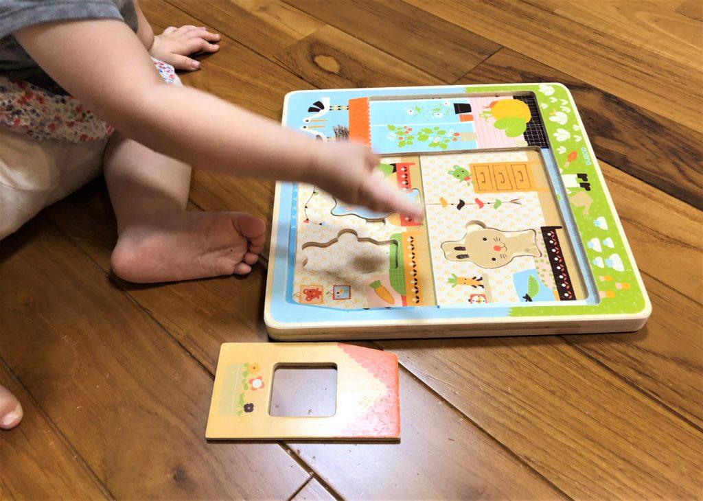 ブログ「モノオス」ジェコ社のラビットコテージで子供が遊んでいる画像