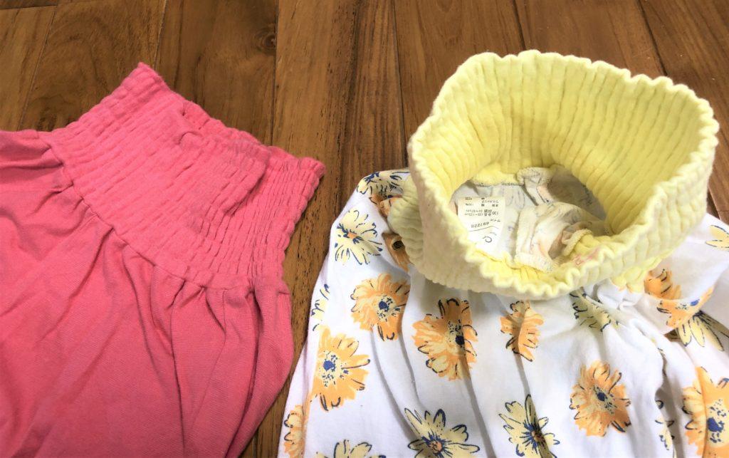 ブログ「モノオス」コンビミニのキッズ用パジャマのゴムありズボンの内側を撮った画像