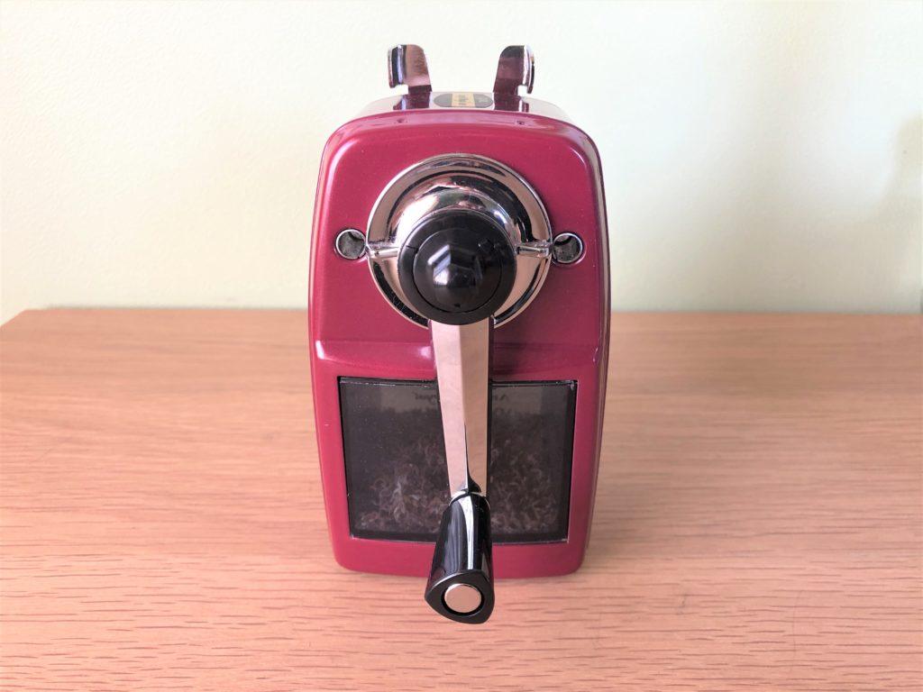ブログ「モノオス」カール事務機エンゼル5ロイヤル(鉛筆削り)を持ち手側から撮った画像