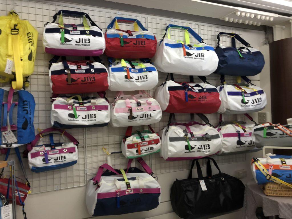 ブログ「モノオス」JIBの店舗でダッフルバッグを撮った画像