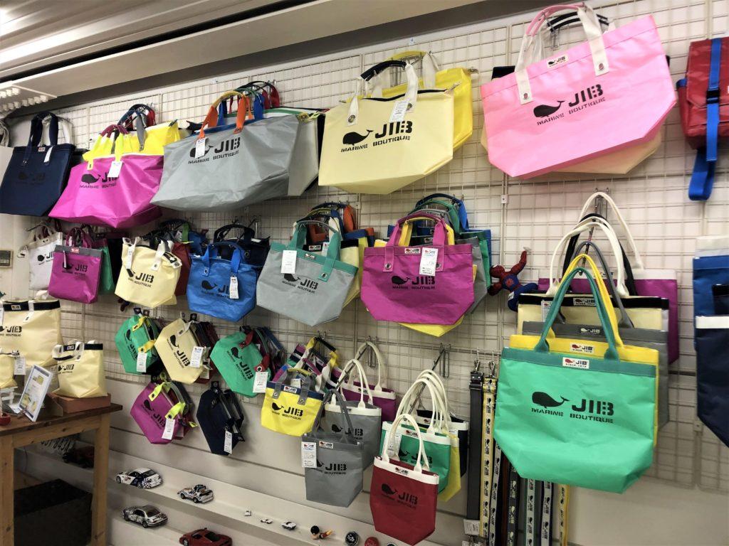 ブログ「モノオス」JIBの店舗でトートバッグを撮った画像