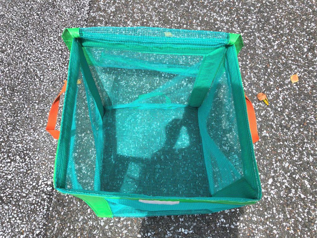 ブログ「モノオス」で『たためるエコバッグ50』のフタを開いて上から撮った画像