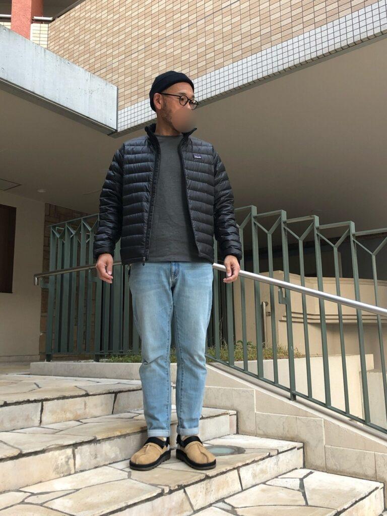 ブログ「モノオス」パタゴニアのダウンセーターを着るyonemicci70氏の画像